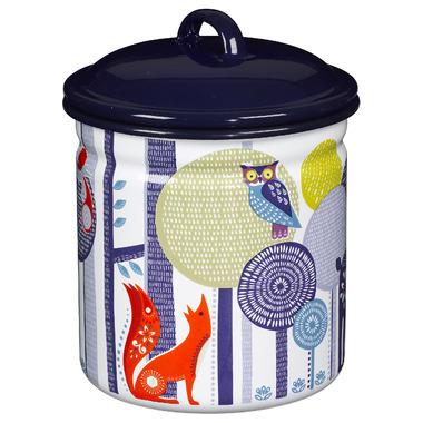 Folklore Enamel Storage Pot