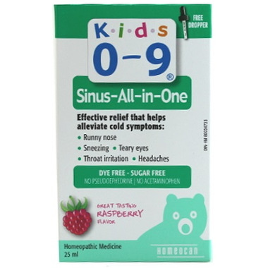 Homeocan Kids 0-9 Sinus-All-in-One With Dropper
