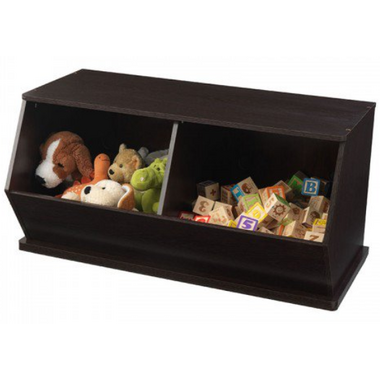 KidKraft Espresso Double Toy Storage Unit