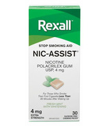Rexall Nic-Assist Nicotine Gum Extra Strength 4 mg Fresh Mint