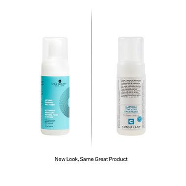 Consonant Skin+Care Natural Foaming Face Wash