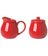 Now Designs Kitchen Style Cream & Sugar Set Red