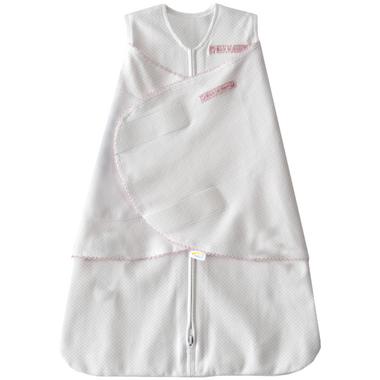 Halo Innovations SleepSack Swaddle Cotton Pink Pin Dot
