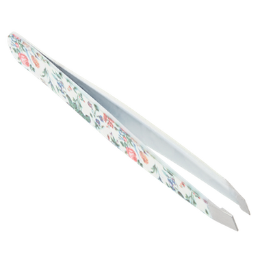 The Vintage Cosmetics Company Slanted Tweezers Floral
