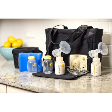 Medela Pump in Style Breast Pump Slouch Bag with BPA-Free Bottle