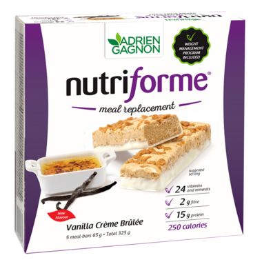 Adrien Gagnon Nutriforme Meal Replacement Bar Vanilla Creme Brulee