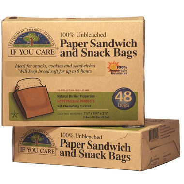 If You Care Unbleached Paper Sandwich & Snack Bags