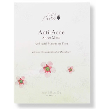 100% Pure Sheet Mask Anti Acne Box
