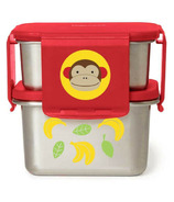 Skip Hop Zoo Stainless Steel Lunch Kit Monkey