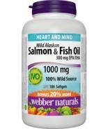 Webber Naturals Omega-3 Wild Salmon & Fish Oils, 1000 mg (EPA 180/DHA 120)