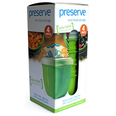 Preserve Mini Food Storage Apple Green