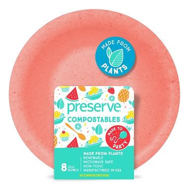 Preserve Compostables Bowls Red