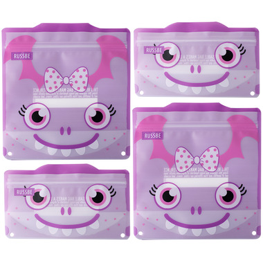 Russbe Reusable Snack/Sandwich Bags Purple Monster