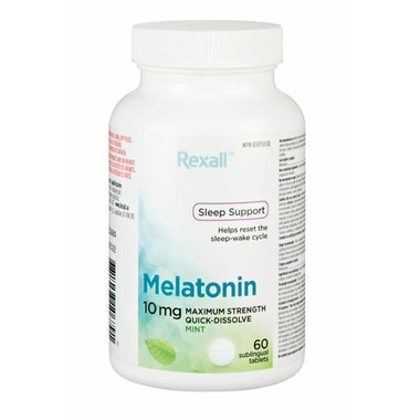 Rexall Maximum Strength Melatonin Quick-Dissolve Sleeping Aid