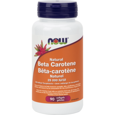 NOW Foods Natural Beta-Carotene 25,000 IU Softgels