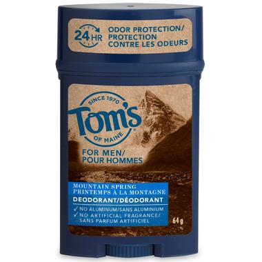 Tom\'s of Maine Men\'s Long Lasting Wide Stick Deodorant