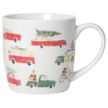 Now Designs Mug Holiday Cars