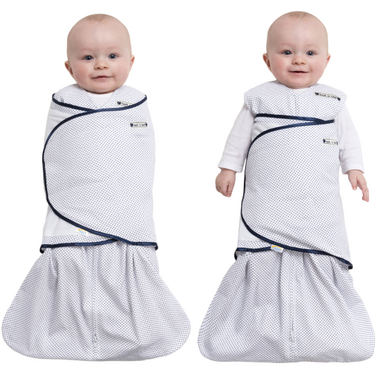 Halo SleepSack Swaddle Cotton Navy Pin Dot