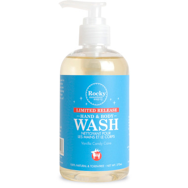 Rocky Mountain Soap Co. Vanilla Candy Cane Body Wash