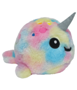 iScream Jumbo Tie Dye Narwhal Scented Stuffed Animal