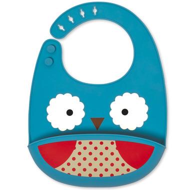 Skip Hop Zoo Fold & Go Silicone Bib Owl