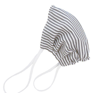 Puffin Gear Reusable Cloth Face Mask Grey Stripe
