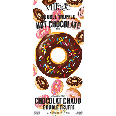 Gourmet du Village Donut Double Truffle Hot Chocolate Mix