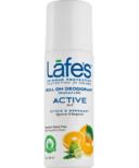 Lafe's Active Roll-On Deodorant with Citrus & Bergamot