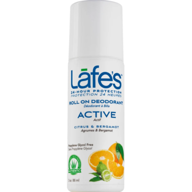 Lafe\'s Active Roll-On Deodorant with Citrus & Bergamot