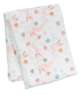 Lulujo Swaddle Blanket Muslin Cotton Kitty