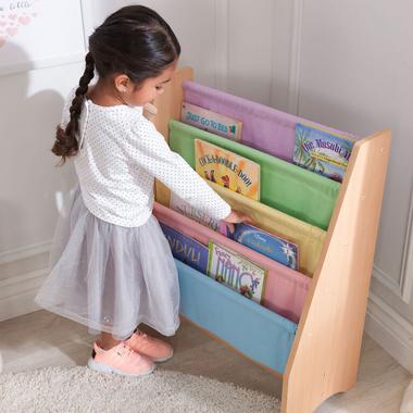 KidKraft Sling Bookshelf Pastel