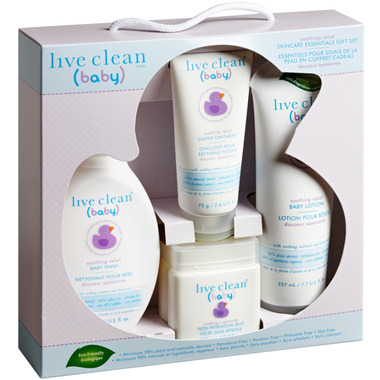 Live Clean Baby Soothing Relief Starter Gift Set