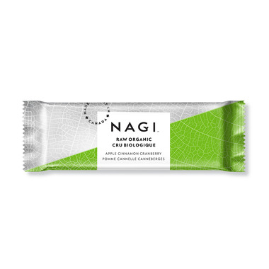 NAGI Organic Raw Energy Bar Apple Cinnamon Cranberry