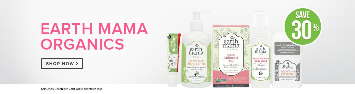 Save 30% off Earth Mama