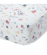Little Unicorn Cotton Muslin Crib Sheet Fairy Garden