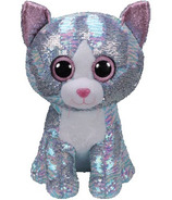 Ty Flippables Whimsy the Sequin Blue Cat Large