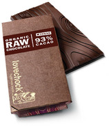 LoveChock 93% Raw Organic Dark Chocolate Bar
