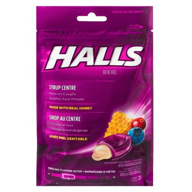 Halls Soothing Centres Wildberry