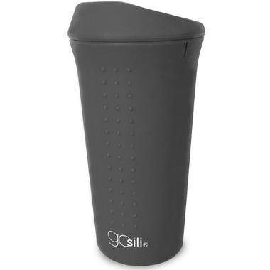 GoSili To Go Coffee Cup Charcoal Grey
