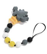 Chewbeads Baby Dinosaur Pacifier Clip