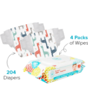 The Honest Company Giraffes Print Diapers & Wipes Bundle Size 3