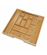 iDesign Formbu Customizable Cutlery Tray Natural Bamboo