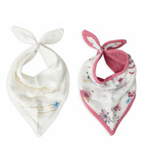 Little Unicorn Deluxe Muslin Bandana Bib Set Fairy Garden