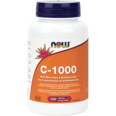 NOW Foods Vitamin C-1000 with Rosehip & Bioflavanoids 1000 mg