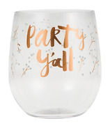 Elise Plastic Stemless Wine Glasses Party Yall