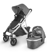 UPPAbaby VISTA V2 Stroller Jordan Charcoal Melange Silver Black Leather