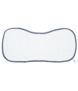 Juddlies Bamboo Burp Cloth White & Lake Blue