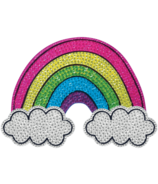 iScream Rainbow & Clouds Rhinestone Decal