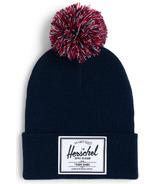 Herschel Supply Abbott Youth Pom Beanie Reflective Peacoat