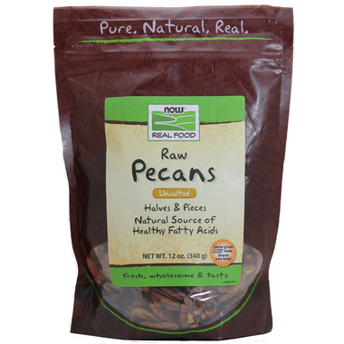 NOW Real Food Raw Pecans